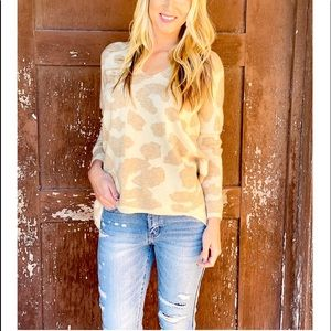 Hearts Of Palm Leopard Print Sweater